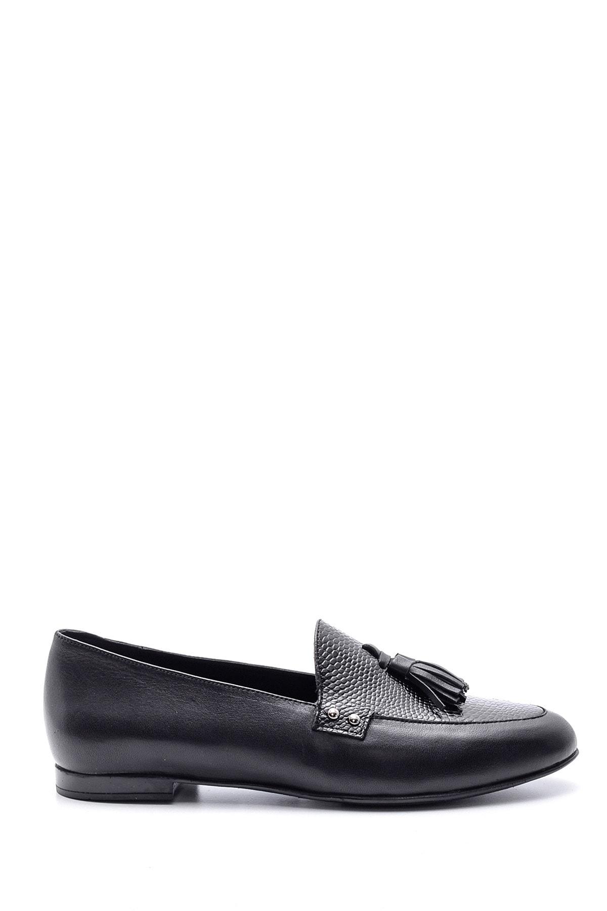 Derimod Kadın Siyah Klasik Deri Loafer 1