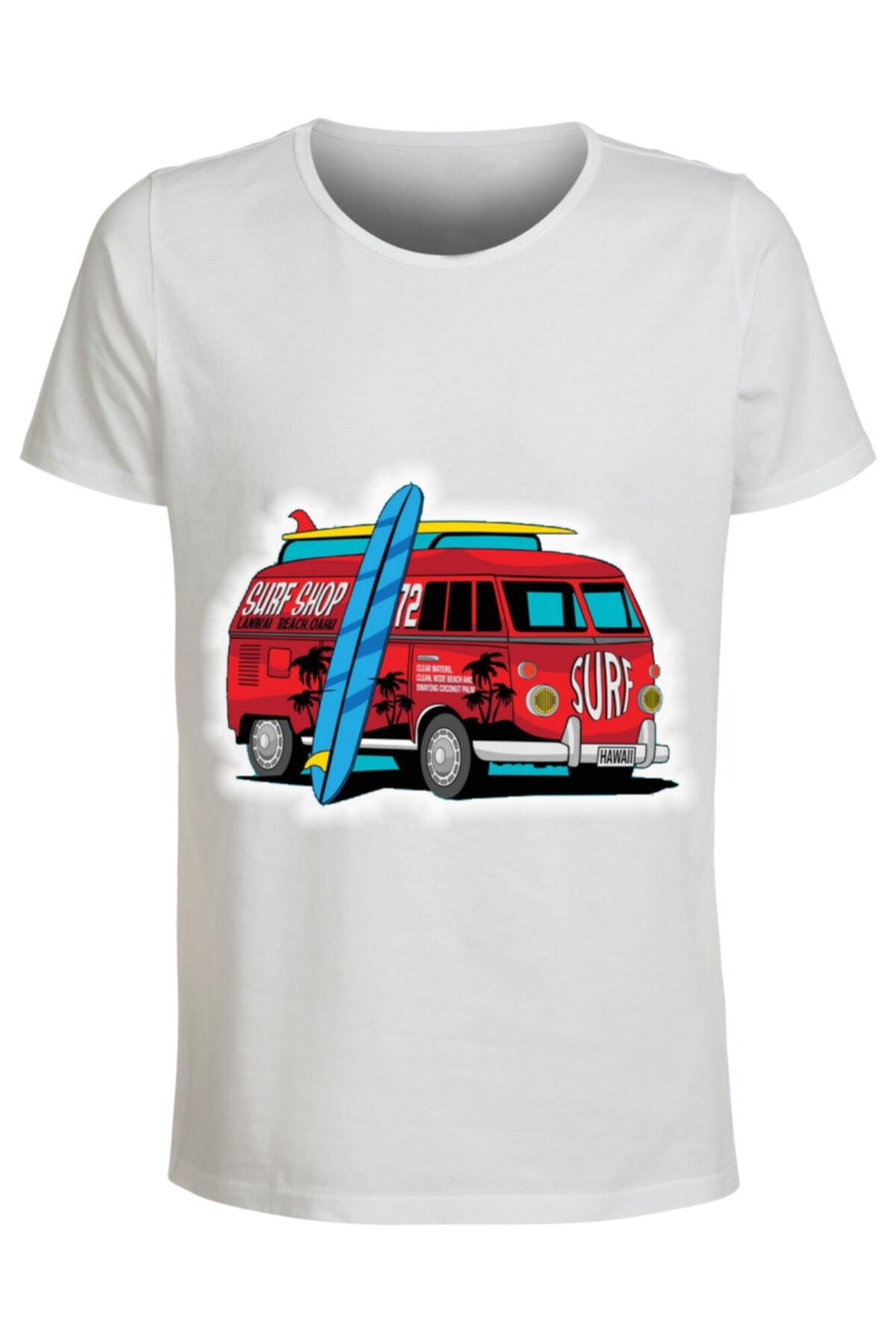 ABC Erkek Beyaz 13 Baskılı T-shirt 1