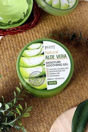 Jigott %100 Saf Aloe Vera Moisture Soothing Gel - Yoğun Nemlendirici Yatıştırıcı Bakım Jeli Büyük Boy