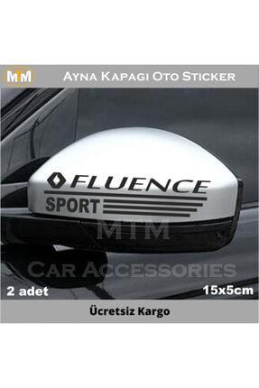 Adel Renault Fluence Ayna Kapağı Oto Sticker (2 Adet)