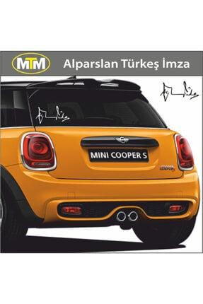 Adel Alparslan Türkeş Imza Oto Sticker 15 Cm