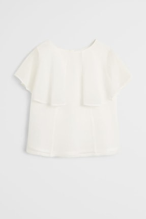 MANGO Kids Fırfırlı dökümlü bluz