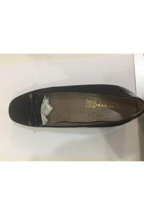Ceyo 249-05 Siyah Nubuk Bayan Anatomik Ayakkabı