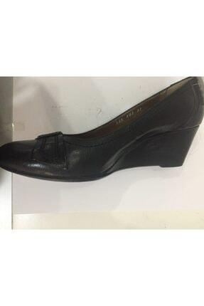 Ceyo 1258-03 Siyah Dolgu Topuk Bayan Anatomik Ayakkabı