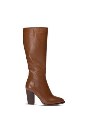 Deery Kadın Hakiki Deri Taba Rengi Çizme