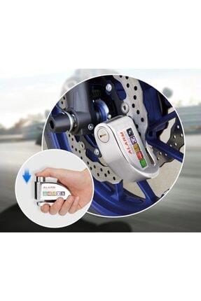 Arzu / Monero Alarmlı Disk Kilidi | Çelik Gövde | Yüksek Ses | Pro Shock Sensör [krom]