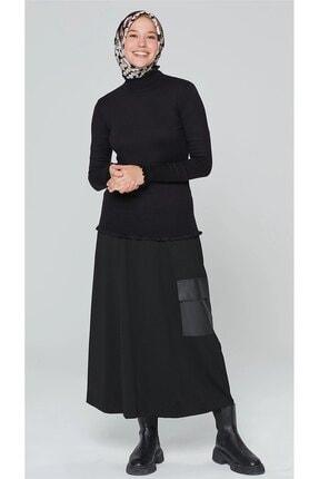 Armine Kadın Siyah Triko Bluz