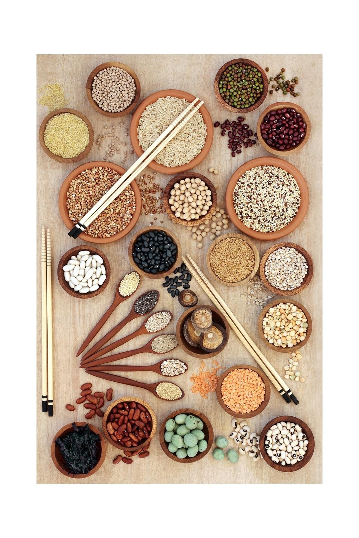 colizon Dekoratif Yıkanabilir Kaymaz Tabanlı Mutfak Halısı 2