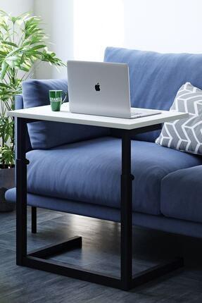 Ceramical Yükseklik Ayarlı Laptop Sehpası, Çalışma Masası, Bilgisayar Masası - Beyaz