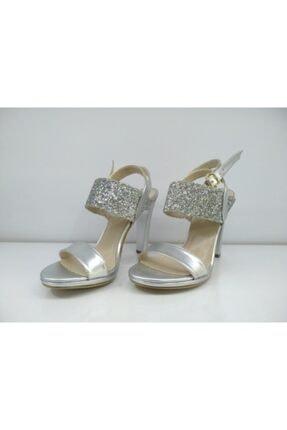 Pierre Cardin Kadın Gümüş Kalın Topuklu Ayakkabı