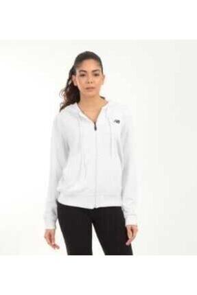 New Balance Kadın Beyaz Hoodie Günlük Sweatshirt
