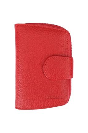 Guzini Kadın Deri Cüzdan 3680 Kırmızı