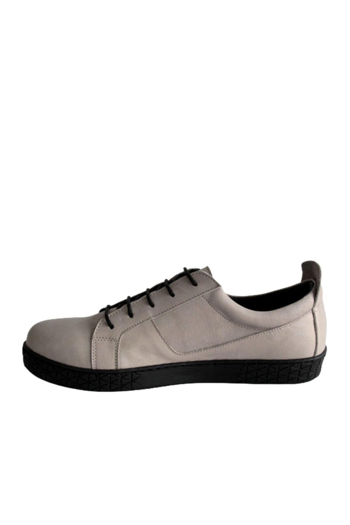 Beta Shoes Kadın Hakiki Deri Günlük Ayakkabı Gri 2