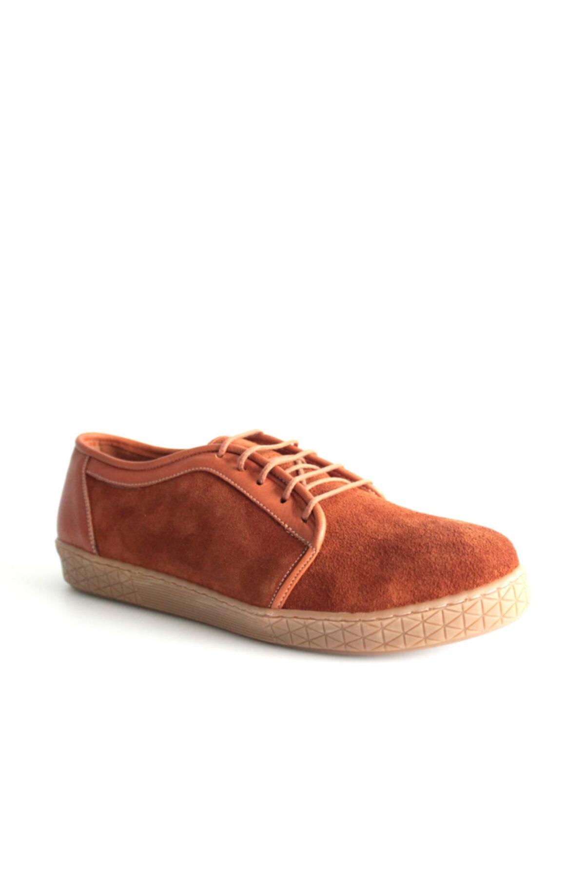Beta Shoes Günlük Ayakkabı Hakiki Deri Kadın Süet Taba 1