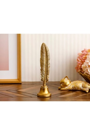 English Home Feather Biblo 17x8x5,3 Cm Gold