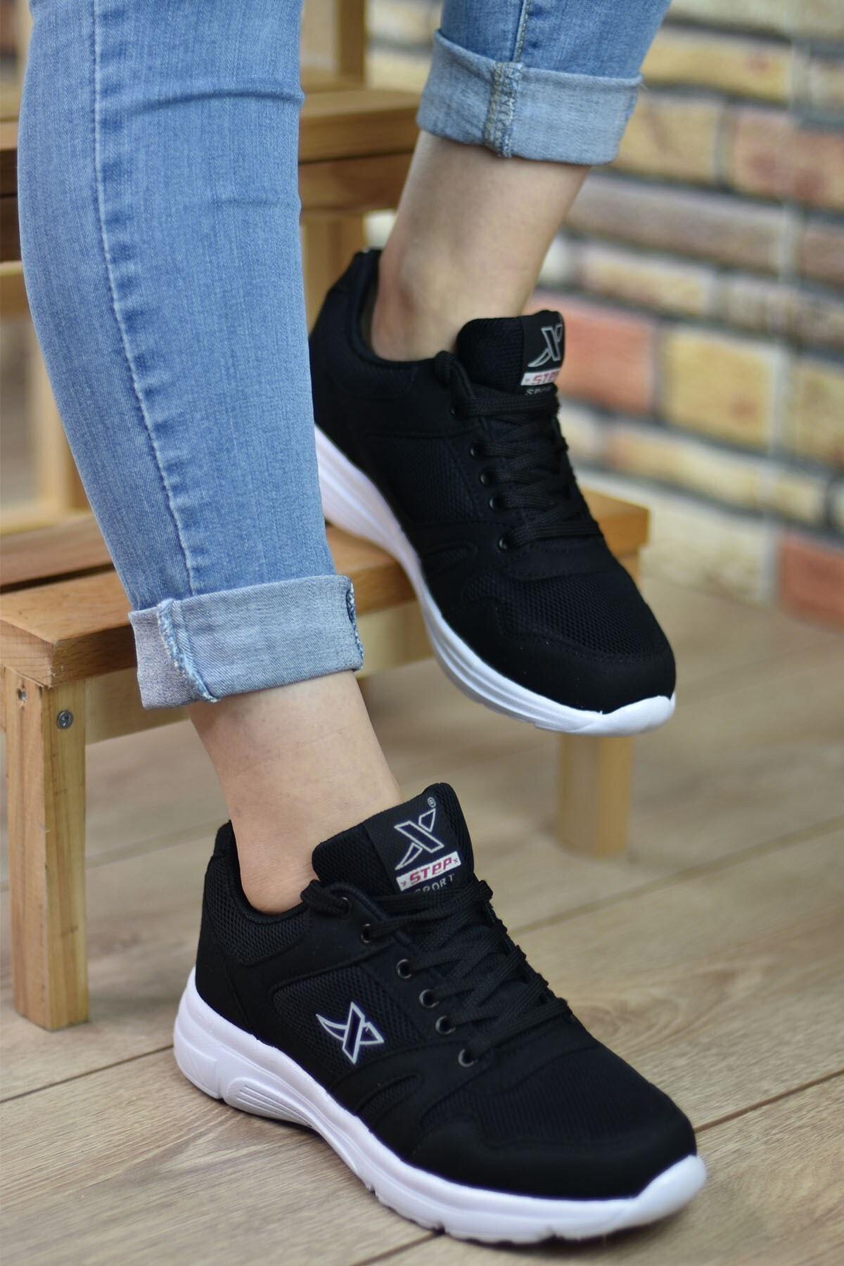 Riccon Unisex Siyah Beyaz  Sneaker 12020 2