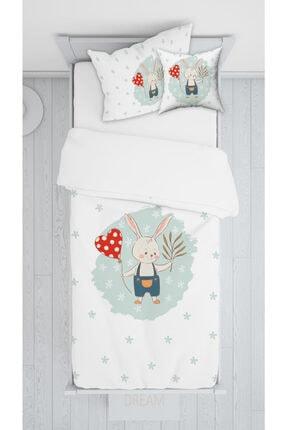 halımarkt Kalpli Tavşan Yatak Örtüsü Takımı