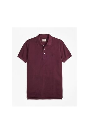 BROOKS BROTHERS Erkek Bordo Polo Yaka T-shirt 1-00088205