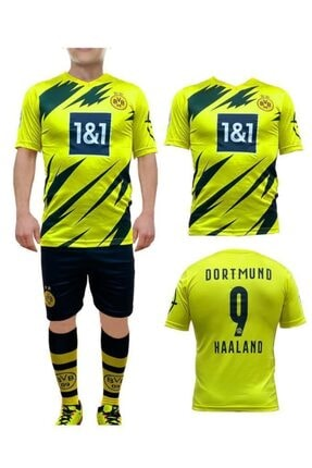 Liggo Dortmund Haaland Çocuk Forma Takımı Forma Şort Çorap Hediyeli