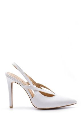 Derimod Kadın Beyaz Topuklu Ayakkabı
