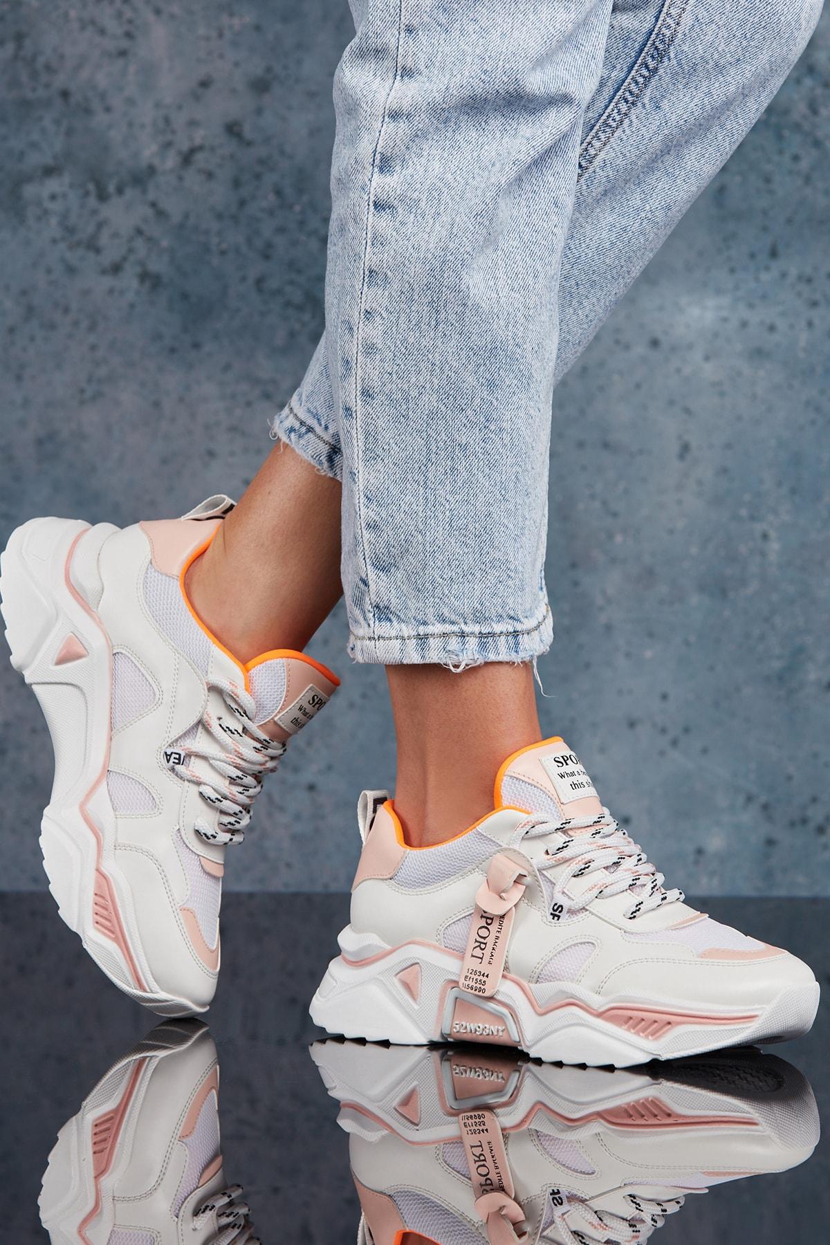 DARK SEER Kadın Pudra Sneaker 1
