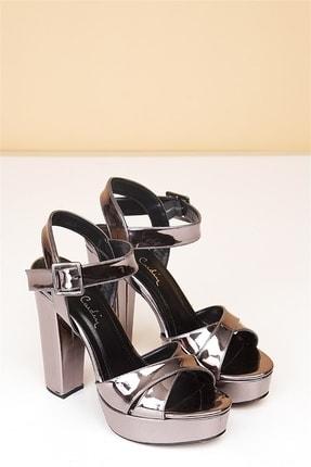 Pierre Cardin PC-50165 Rugan Platin Kadın Ayakkabı