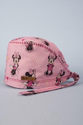 Best Bone Lisanslı Pembe Minnie Mouse Desenli Cerrahi Bone