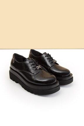 Pierre Cardin PC-50827 Rugan Siyah Kadın Ayakkabı