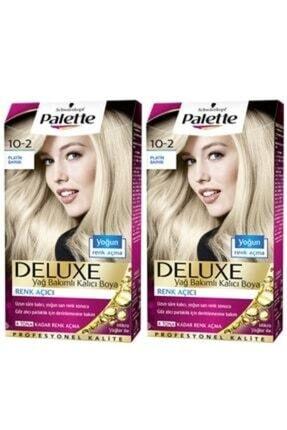 SCHWARZKOPF HAIR MASCARA Palette Deluxe 10-2 Platin Sarı X 2 Saç Boyası 50 Ml