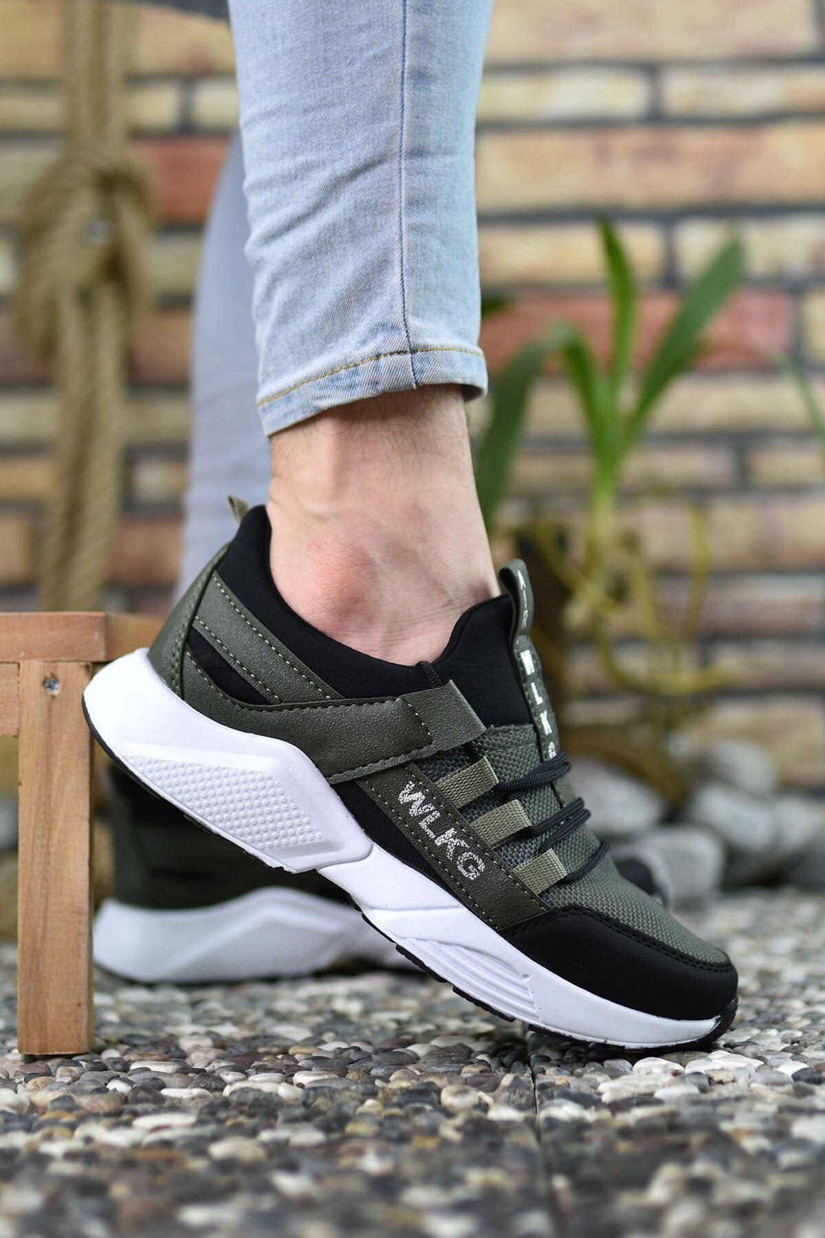 Riccon Haki Siyah Unisex Sneaker 0012072 1