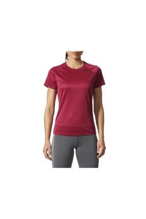 adidas Kadın Tişörtü Kırmızı D2m Tee Lose Bq5848
