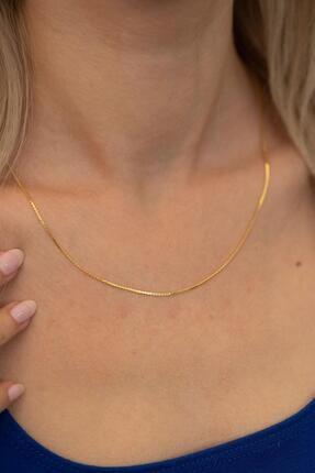 İzla Design Kadın Tilki Kuyruğu Zincir Altın Kaplama Gümüş İtalyan Kolye PKT-TLYSLVR0126