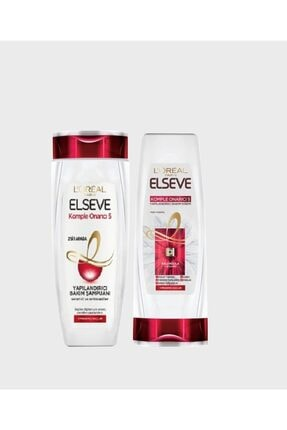 ELSEVE Komple Onarıcı 5 Şampuan 450 Ml + Komple Onarıcı 5 Saç Bakım Kremi 175 Ml