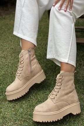 İnan Ayakkabı BAYAN NUDE SÜET BOT&BOOTİE&POSTAL KY92500