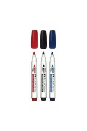 Faber Castell Faber Castel 3 Renk Tahta Kalemi Mıknatıslı Silinebilir Tahta Silgisi Hediyeli