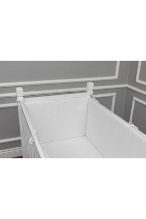 MAYA BABY Beyaz  Yan Koruma Seti 4 Parça 70x140