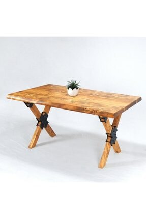 Entema Doğal Ağaç Masif Kütük Masa Yemek Masası 90 Cm X 150 Cm