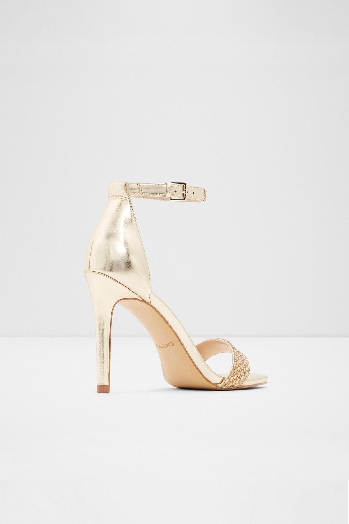 Aldo Kadın Altın Yüksek Topuklu Sandalet 2
