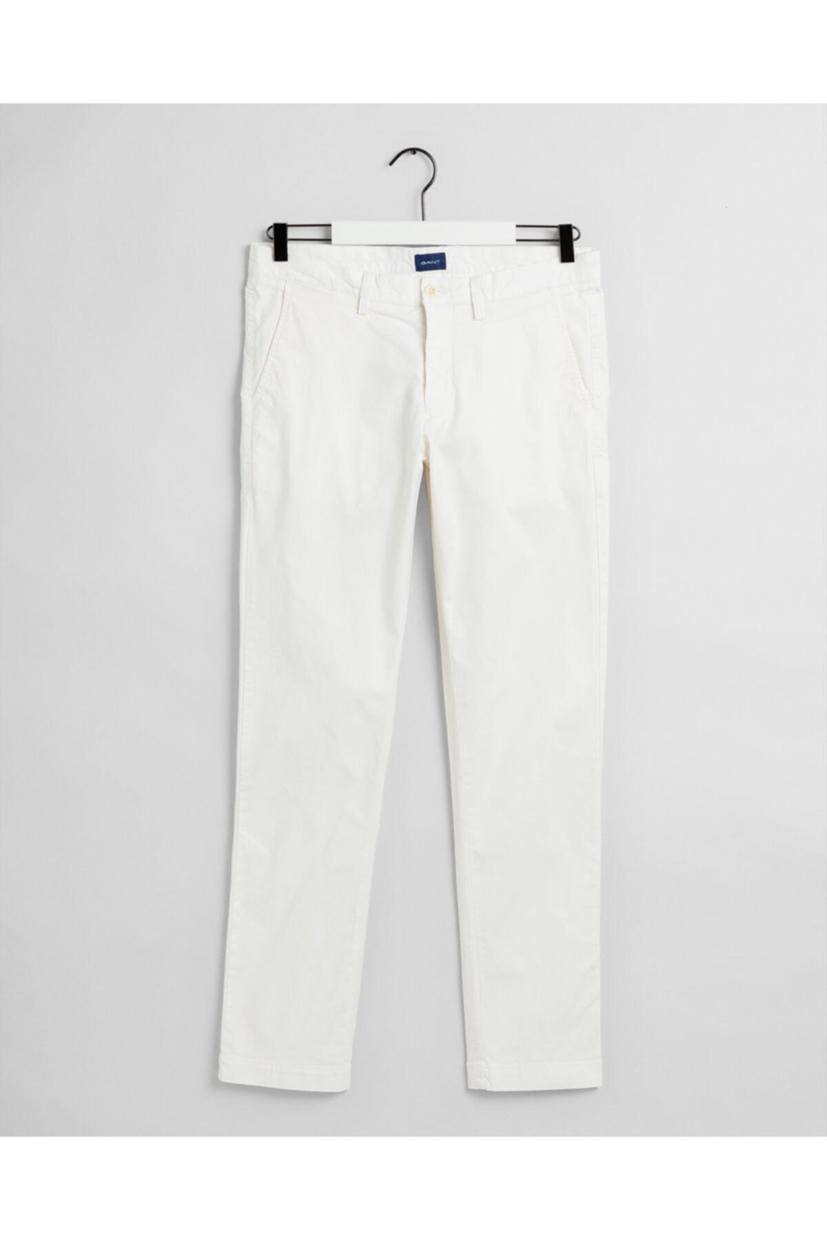 Gant Erkek Krem Slim Fit Chino Pantolon 1