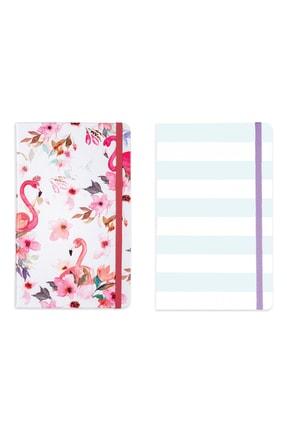 Matt Notebook 2'li Defter Seti 13x21 Lastikli Kareli Flamingo