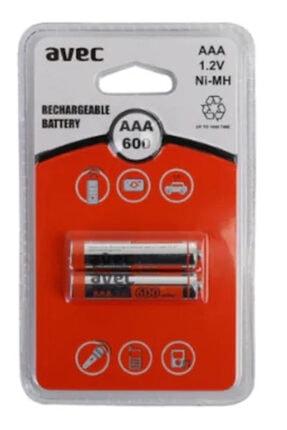 AVEK 600 Mah Aaa Ince Şarjlı Pil Şarj Edilebilir Pil 2 Li