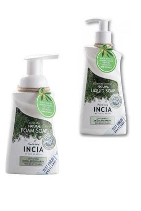 Incia Zeytinyağlı Doğal Sıvı Sabun 250ml + Zeytinyağlı Köpük Sabun 200ml