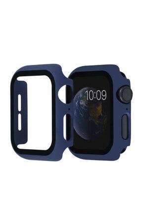 Nezih Case Kasa Ve Ekran Koruyucu Apple Watch Seri 6 44mm Akıllı Saat Için Lacivert