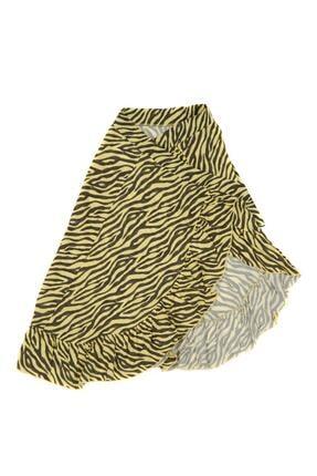 Çikoby Kız Çocuk Zebra Desenli Anvelop Etek 7-14 Yaş 2161