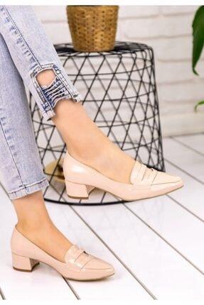 REYNA Kadın Krem Rugan Topuklu Ayakkabı