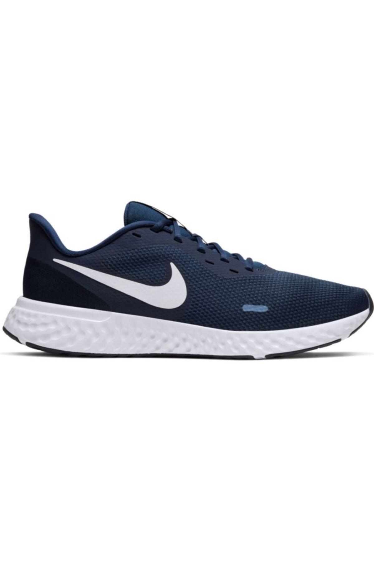 Nike Erkek Lacivert Revolutıon 5 Spor Ayakkabı Bq3204-400 1