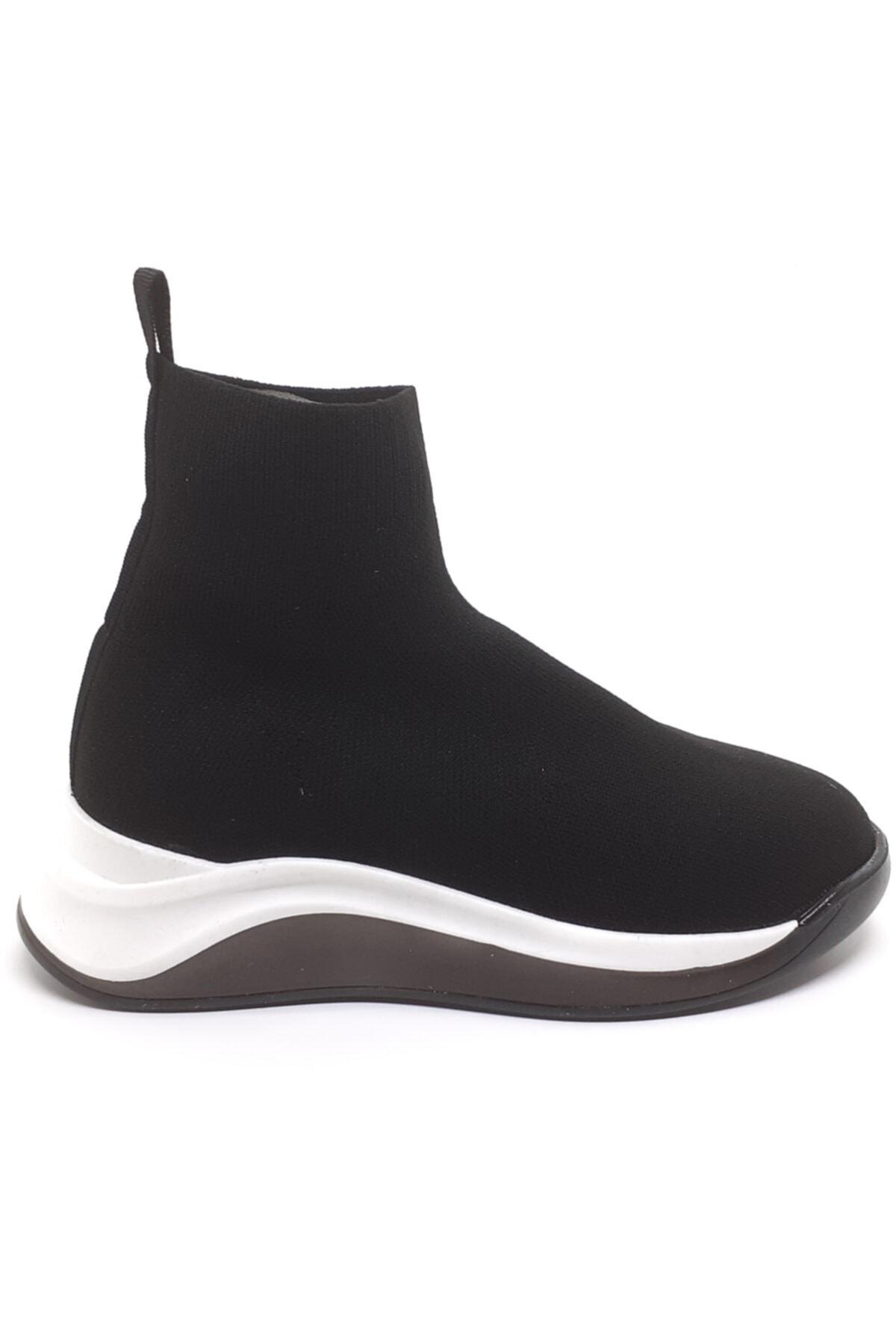 Cudo Kadın Siyah Çorap Bot 1