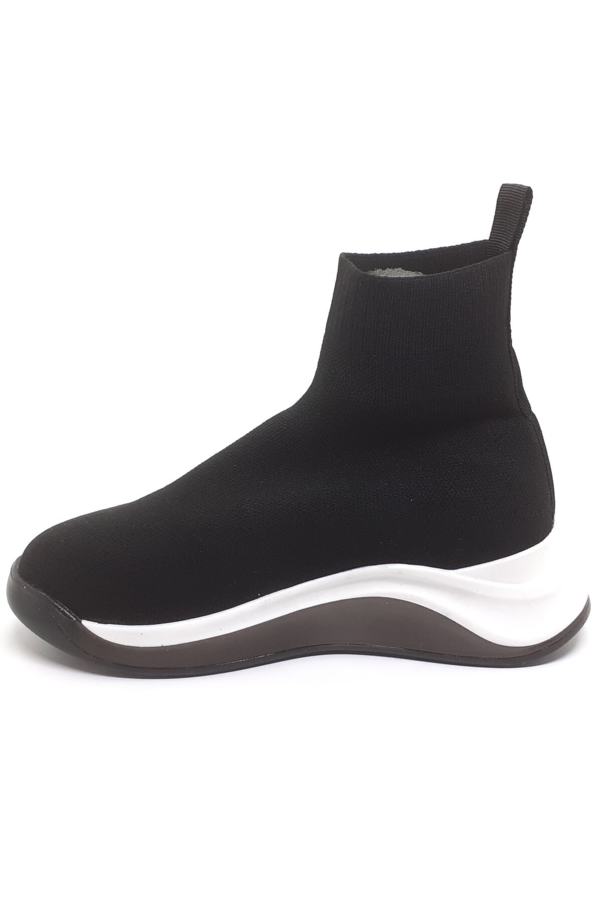 Cudo Kadın Siyah Çorap Bot 2