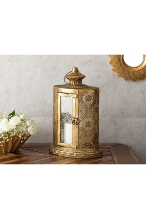 English Home Romantic Stripe Metal Fener 21x13,5x32 Gold