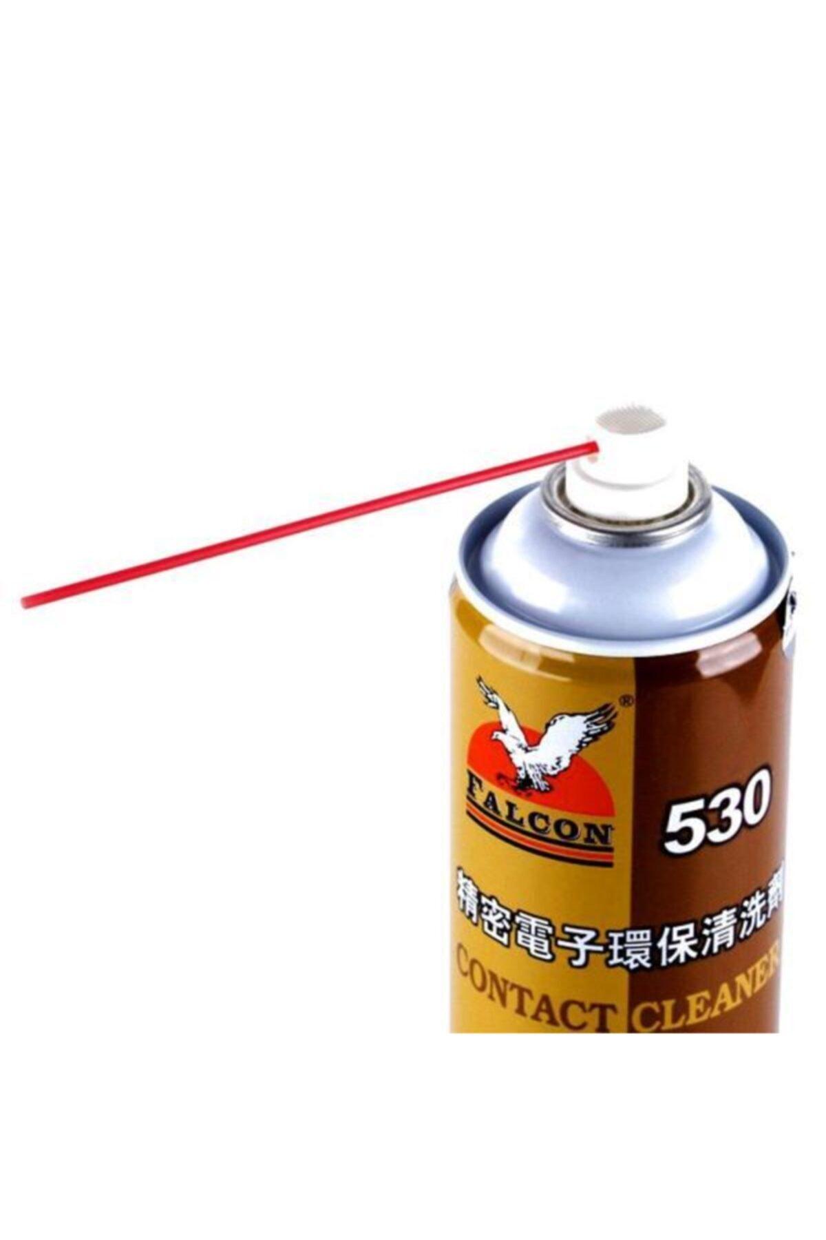 Falcon 530 Yağsız Kontak Sprey Büyük Boy Pipet Başlığı Yanında Elektronik Temizleme Sprey 550 ml 2